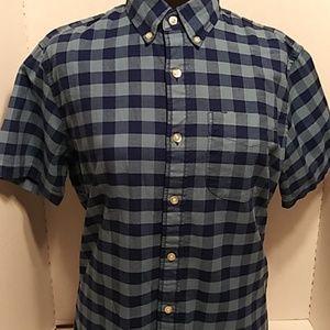 Gap. Buffalo Plaid Short Sleeve button-Up Shirt
